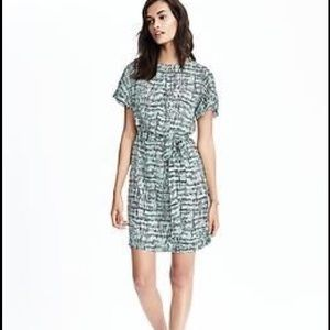 Banana republic tie waist dress size S